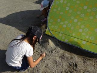 砂遊びのテラ美テラ子