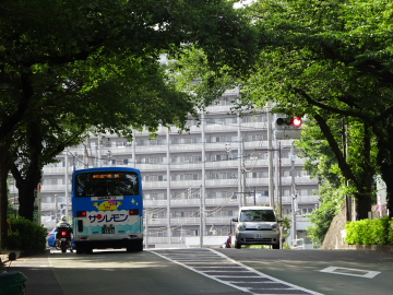 桐ヶ丘アパートNの坂を降りて