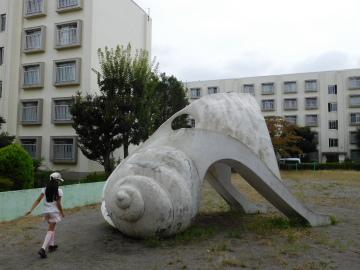 多摩川住宅 ホ号棟の公園2