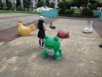 多摩川住宅 公園のかえる