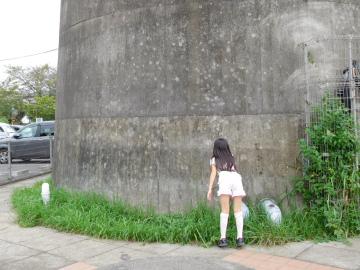 多摩川住宅 二号棟の給水塔
