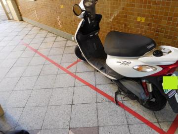 南永田団地1階の駐輪場