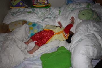テラ子の寝相